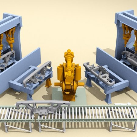 Railcar casting robotic finish